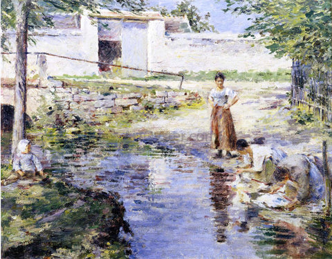 Theodore Robinson Gossips - Hand Painted Oil Painting