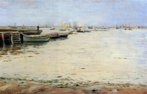 William Merritt Chase Gowanus Bay (also known as Misty Day, Gowanus Bay) - Hand Painted Oil Painting