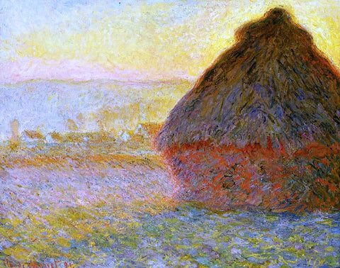 Claude Oscar Monet Grainstack at Sunset - Hand Painted Oil Painting
