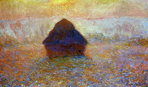 Claude Oscar Monet Grainstack, Sun in the Mist - Hand Painted Oil Painting