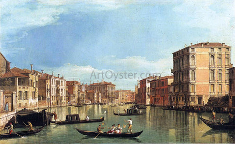 Canaletto At the Grand Canal Between the Palazzo Bembo and the Palazzo Vendramin - Hand Painted Oil Painting