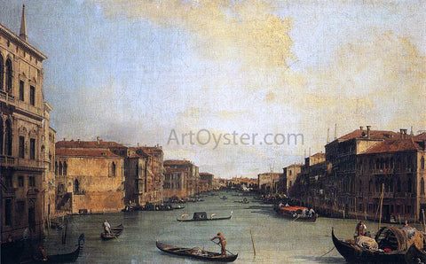 Canaletto At the Grand Canal from the Palazzo Balbi - Hand Painted Oil Painting