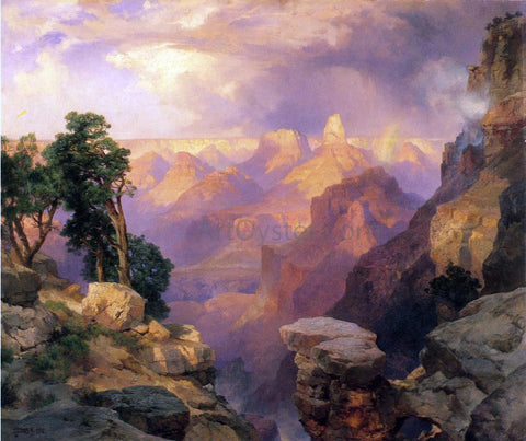 Thomas Moran Grand Canyon with Rainbows - Hand Painted Oil Painting