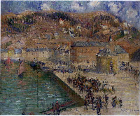 Gustave Loiseau Grand Quay at Fecamp - Hand Painted Oil Painting