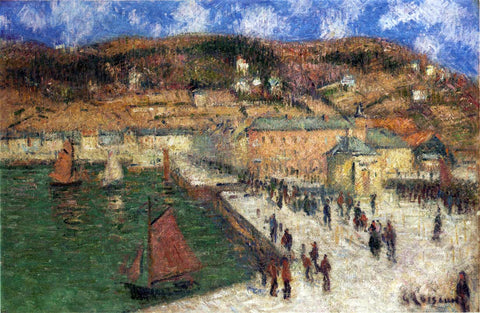 Gustave Loiseau Grand Quay, Fecamp - Hand Painted Oil Painting