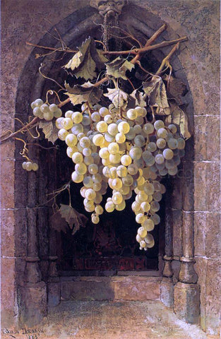 Edwin Deakin Grapes - Hand Painted Oil Painting
