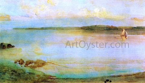 James McNeill Whistler Gray and Gold - The Golden Bay - Hand Painted Oil Painting