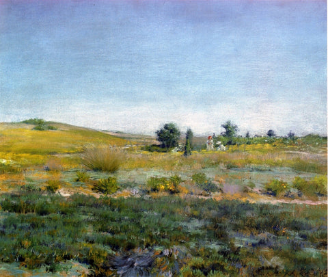 William Merritt Chase Gray Day in Spring (also known as Summer) - Hand Painted Oil Painting