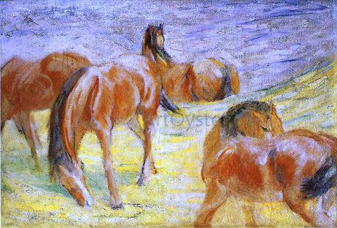 Franz Marc Grazing Horses - Hand Painted Oil Painting