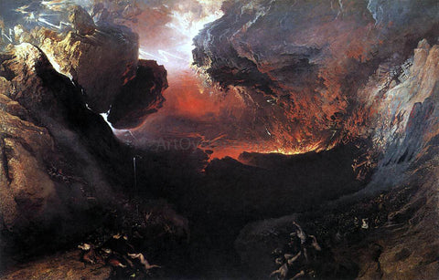 John Martin Great Day of His Wrath - Hand Painted Oil Painting