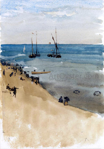 James McNeill Whistler Green and Silver - The Bright Sea, Dieppe - Hand Painted Oil Painting