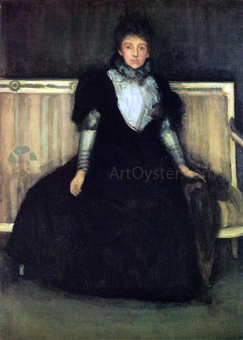 James McNeill Whistler Green and Violet: Portrait of Mrs. Walter Sickert - Hand Painted Oil Painting