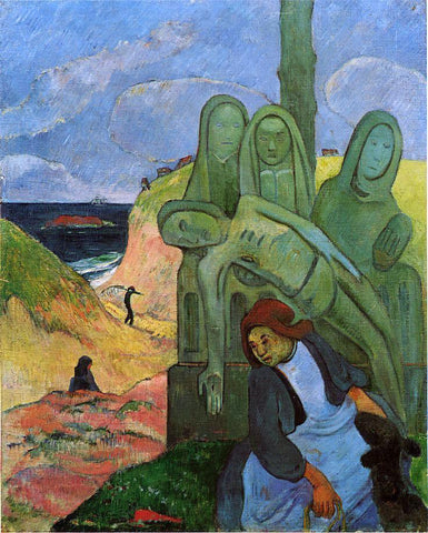 Paul Gauguin Green Christ (also known as Breton Calvary) - Hand Painted Oil Painting