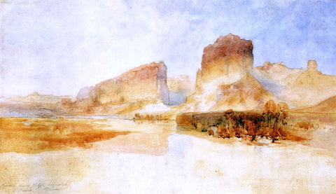 Thomas Moran Green River Cliffs, Wyoming - Hand Painted Oil Painting