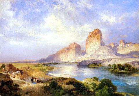 Thomas Moran Green River, Wyoming - Hand Painted Oil Painting