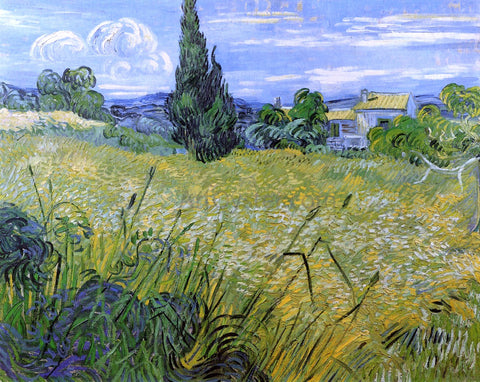 Vincent Van Gogh Green Wheat Field with Cypress - Hand Painted Oil Painting