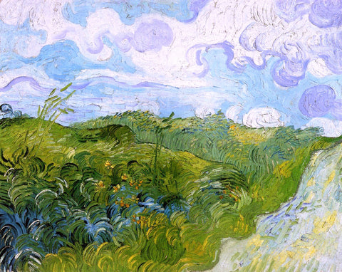 Vincent Van Gogh Green Wheat Fields - Hand Painted Oil Painting