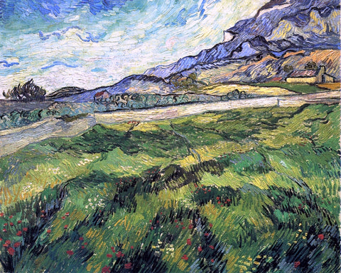 Vincent Van Gogh Green Wheatfield - Hand Painted Oil Painting