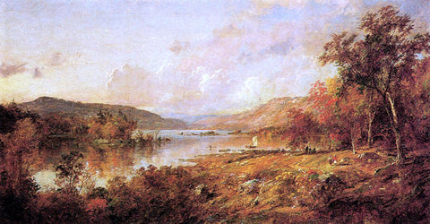 Jasper Francis Cropsey Greenwood Lake in September - Hand Painted Oil Painting