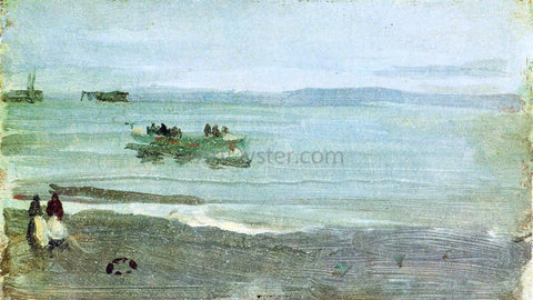 James McNeill Whistler Grey and Silver: Mist - Lifeboat - Hand Painted Oil Painting