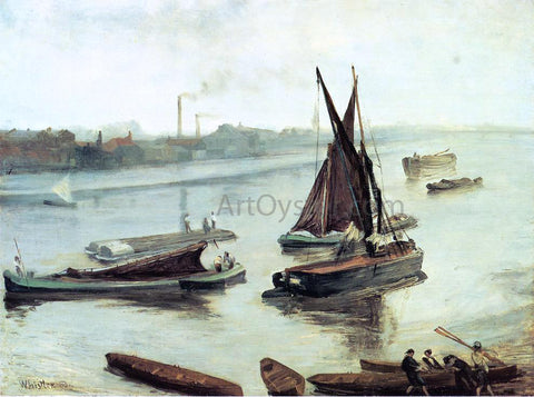 James McNeill Whistler Grey and Silver: Old Battersea Reach - Hand Painted Oil Painting