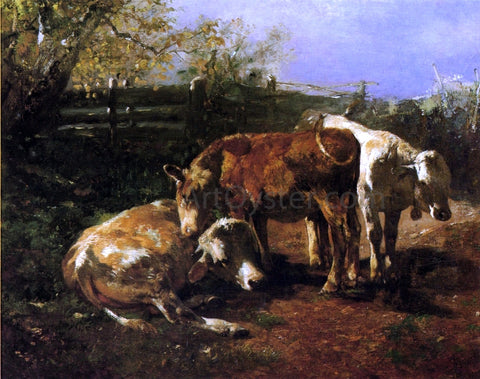 Anton Braith Group of Three Cows - Hand Painted Oil Painting