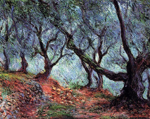 Claude Oscar Monet A Grove of Olive Trees in Bordighera - Hand Painted Oil Painting