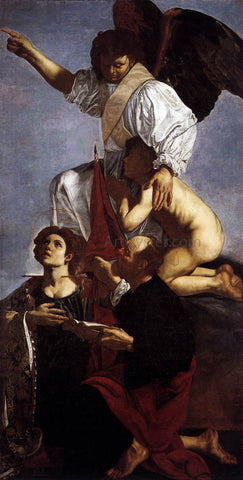 Cecco Del caravaggio Guardian Angel with Sts Ursula and Thomas - Hand Painted Oil Painting