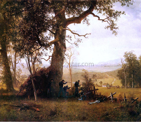 Albert Bierstadt Guerilla Warfare (also known as Picket Duty in Virginia) - Hand Painted Oil Painting
