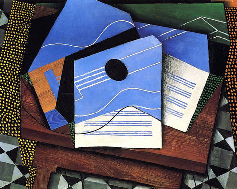 Juan Gris Guitar on a Table - Hand Painted Oil Painting