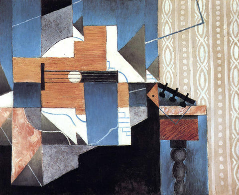 Juan Gris Guitar on the Table - Hand Painted Oil Painting