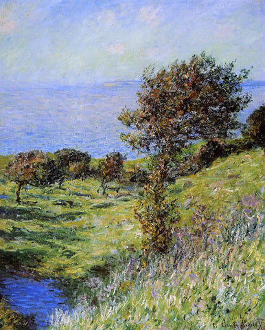 Claude Oscar Monet Gust of Wind - Hand Painted Oil Painting