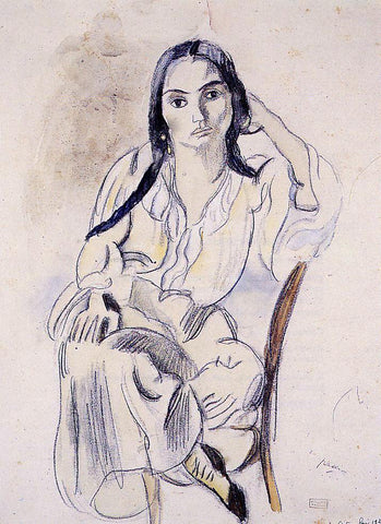 Jules Pascin Gypsy Woman - Hand Painted Oil Painting