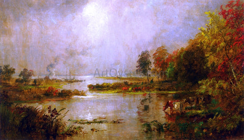 Jasper Francis Cropsey Hackensack Meadows - Hand Painted Oil Painting