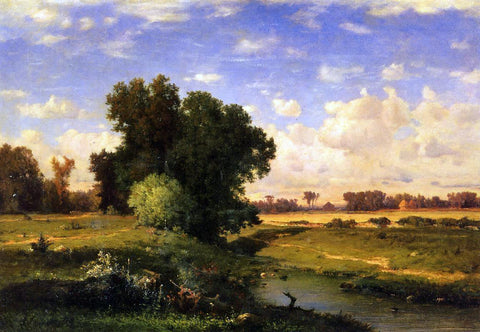 George Inness Hackensack Meadows, Sunset - Hand Painted Oil Painting