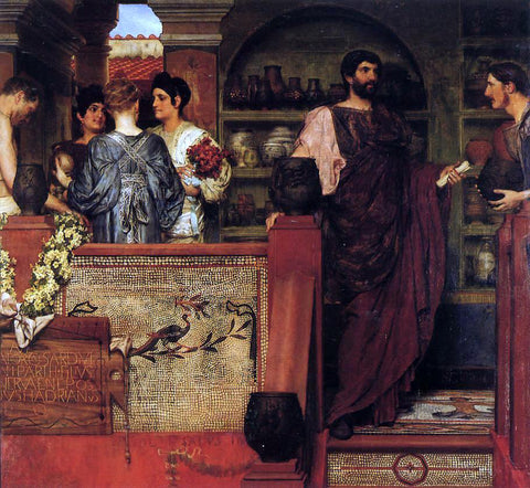 Sir Lawrence Alma-Tadema Hadrian Visiting a Romano-British Pottery - Hand Painted Oil Painting