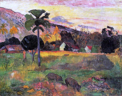 Paul Gauguin Haere Mai Venezi (also known as Come Here) - Hand Painted Oil Painting