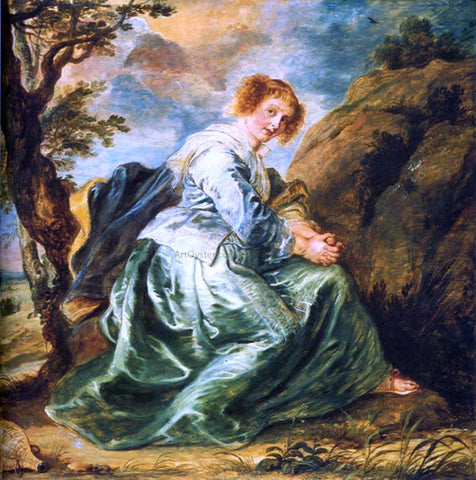 Peter Paul Rubens Hagar in the Desert - Hand Painted Oil Painting