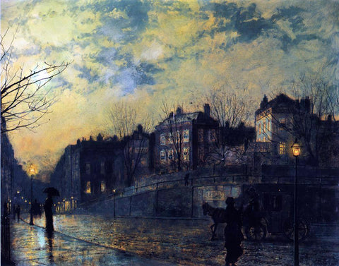 John Atkinson Grimshaw Hampstead - Hand Painted Oil Painting