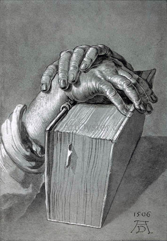 Albrecht Durer Hand Study with Bible - Hand Painted Oil Painting