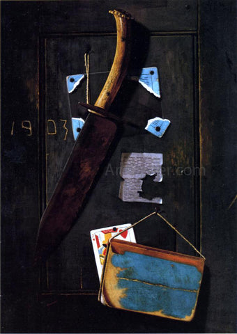 John Frederick Peto Hanging Knife and Jack of Hearts - Hand Painted Oil Painting