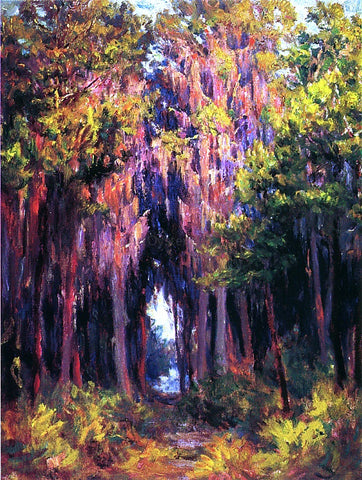 John Ottis Adams Hanging Moss, St. Petersburg - Hand Painted Oil Painting