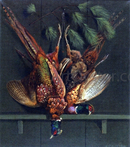Alexander Pope Hanging Pheasants - Hand Painted Oil Painting