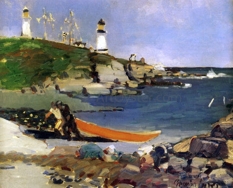 George Luks Hannaford's Cove - Hand Painted Oil Painting