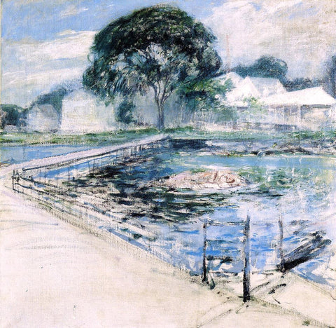 John Twachtman Harbor View Hotel - Hand Painted Oil Painting
