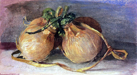 John La Farge Hari, Bundle of Cocoanuts, Showing Tahitian Manner of Preparing and Tying Them - Hand Painted Oil Painting