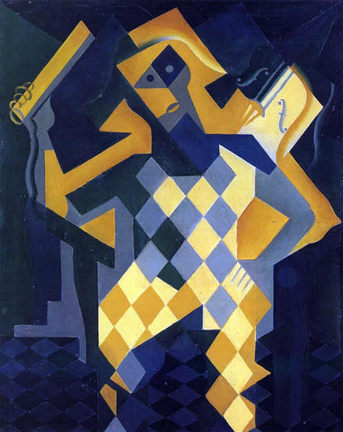 Juan Gris Harlequin with Violin - Hand Painted Oil Painting