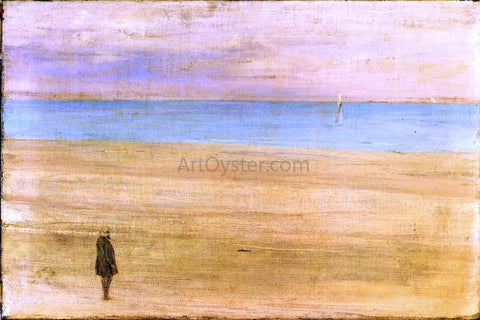 James McNeill Whistler Harmony in Blue and Silver: Trouville - Hand Painted Oil Painting