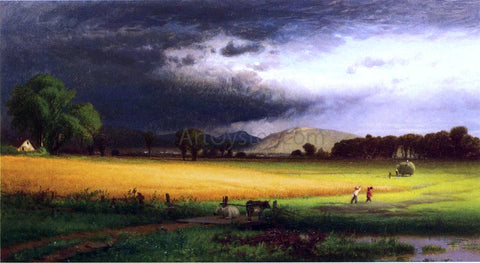 William M Hart Harvest Scene - Valley of the Delaware - Hand Painted Oil Painting