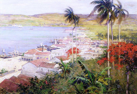 Willard Leroy Metcalf Havana Harbor - Hand Painted Oil Painting